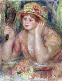Renoir | Woman with a Mirror, c.1915 | Giclée Canvas Print