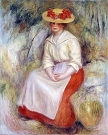 Renoir | Gabrielle in a Straw Hat, 1900 | Giclée Canvas Print