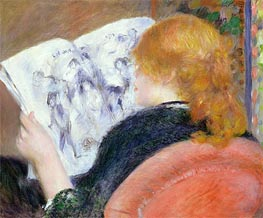 Renoir | Young Woman Reading an Illustrated Journal, c.1880/81 | Giclée Canvas Print