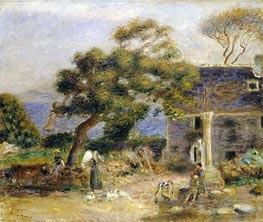 View of Treboul, c.1895 by Renoir | Giclée Canvas Print