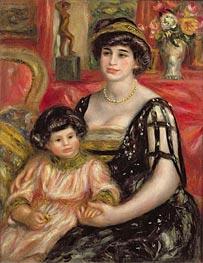 Renoir | Madame Josse Bernheim-Jeune and her Son Henry, 1910 | Giclée Canvas Print