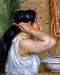 Renoir | Girl Combing her Hair, c.1907/08 | Giclée Canvas Print