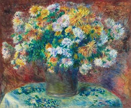 Chrysanthemums, c.1881/82 by Renoir | Giclée Canvas Print