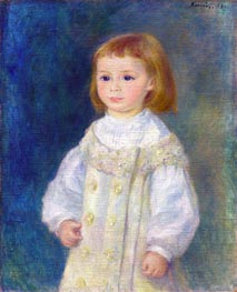 Lucie Berard (Child in White), 1883 by Renoir | Giclée Canvas Print