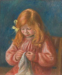 Jean Renoir Sewing, 1899/00 by Renoir | Giclée Canvas Print