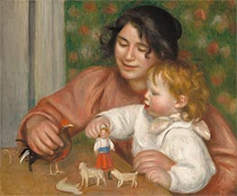 Child with Toys - Gabrielle and the Artist's Son, Jean, c.1895/96 by Renoir | Giclée Canvas Print