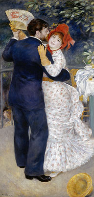 Dance in the Country (Dance at Chatou), 1883 | Renoir | Painting Reproduction