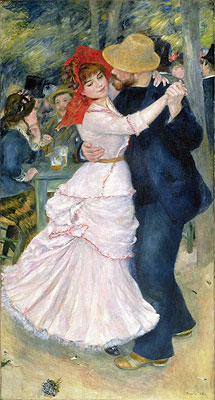 Dance at Bougival, 1883 | Renoir | Painting Reproduction