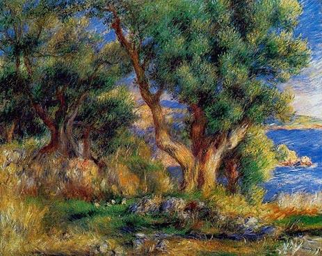 Landscape on the Coast, near Menton, 1883 | Renoir | Painting Reproduction