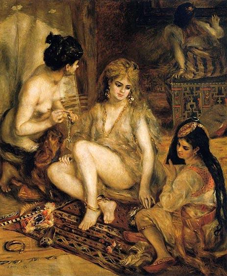 The Harem (Parisian Women Dressed as Algerians), 1872 | Renoir | Painting Reproduction