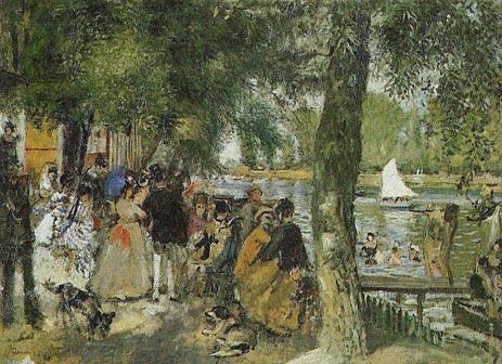 La Grenouillere, 1869 | Renoir | Painting Reproduction