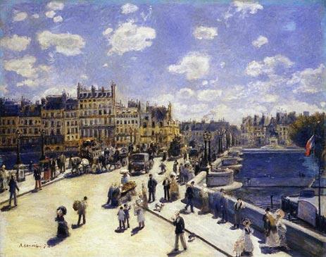 Le Pont-Neuf, Paris, 1872 | Renoir | Painting Reproduction