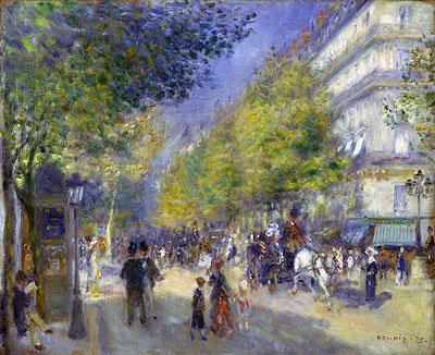 The Boulevards of Paris, 1875 | Renoir | Painting Reproduction