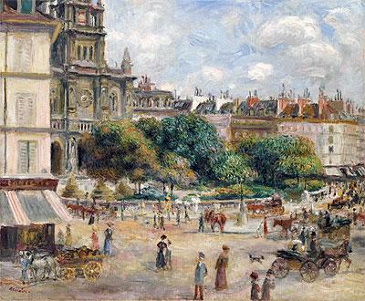 Place de la Trinite, Paris, 1875 | Renoir | Painting Reproduction