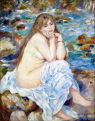 Seated Bather, c.1883/84 | Renoir | Painting Reproduction