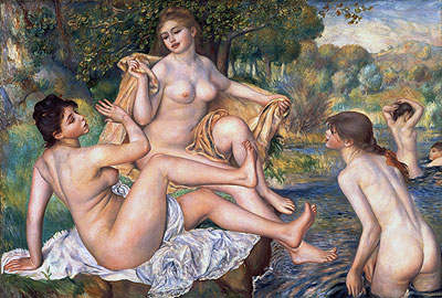 The Bathers, c.1884/87 | Renoir | Painting Reproduction