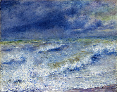 Seascape (The Wave), 1879 | Renoir | Painting Reproduction