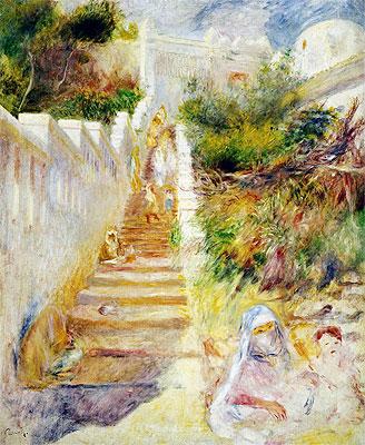 The Steps, Algiers, c.1882 | Renoir | Painting Reproduction