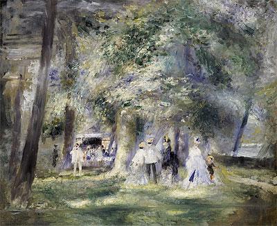 In the Park at Saint-Cloud, 1866 | Renoir | Painting Reproduction