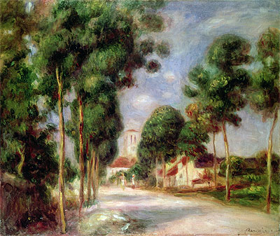 The Road to Essoyes, 1901 | Renoir | Painting Reproduction
