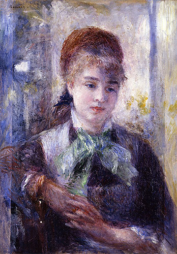 Portrait of Nini Lopez, 1876 | Renoir | Painting Reproduction