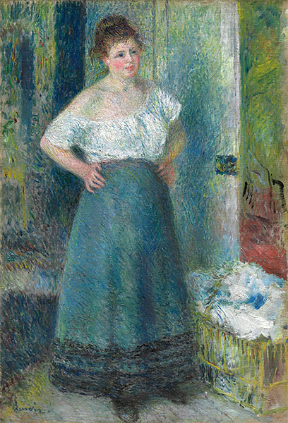 The Laundress, c.1877/79 | Renoir | Painting Reproduction