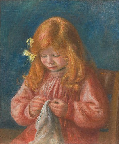 Jean Renoir Sewing, 1899/00 | Renoir | Painting Reproduction