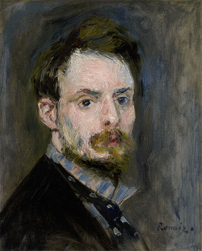 Self-Portrait, c.1875 | Renoir | Painting Reproduction