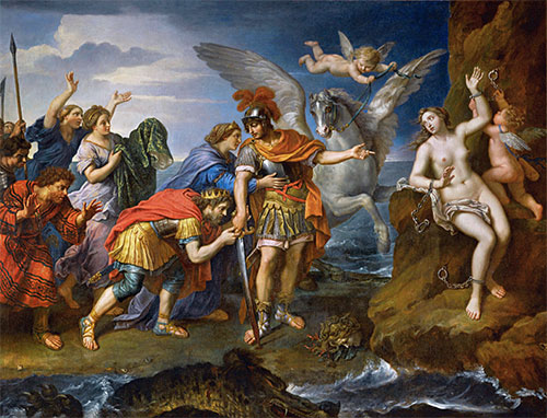 Deliverance of Andromeda, 1679 | Pierre Mignard | Painting Reproduction