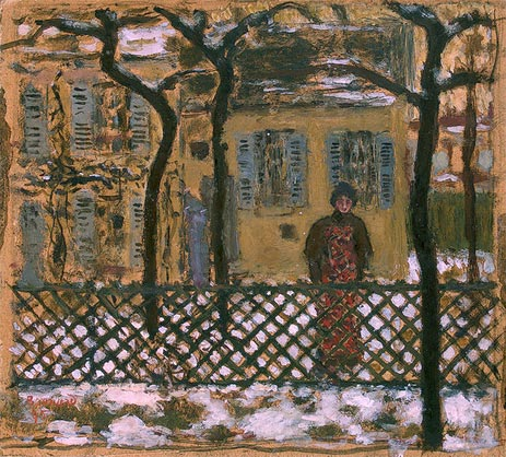 Behind the Fence, 1895   Pierre Bonnard   Painting Reproduction