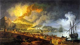 Pierre Jacques Volaire | Eruption of Vesuvius in 1771, 1779 | Giclée Canvas Print