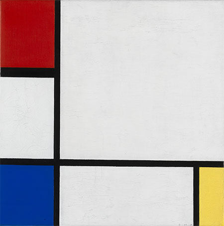 Mondrian | Composition No. IV, with Red, Blue and Yellow, 1929 | Giclée Canvas Print