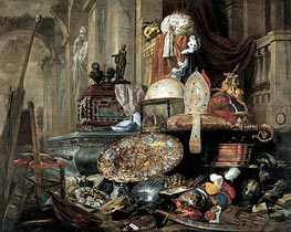 Pieter Boel | Large Vanitas Still-Life (Allegory of the Vanities of the World), 1663 | Giclée Canvas Print