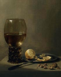 Pieter Claesz | Still Life with a Large Roemer, undated | Giclée Canvas Print