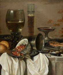 Pieter Claesz | Still Life with Drinking Vessels, 1649 | Giclée Canvas Print