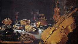 Still Life with Musical Instruments, 1623 by Pieter Claesz | Giclée Canvas Print