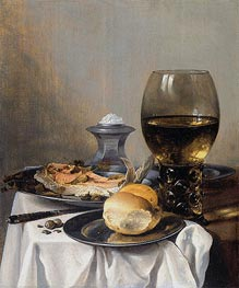 Still Life with Saltcella, c.1640/45 by Pieter Claesz | Giclée Canvas Print