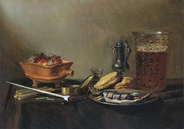 Still Life with Pipe, 1647 by Pieter Claesz | Giclée Canvas Print