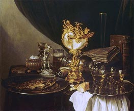 Still Life with a Nautilus Cup, 1645 by Pieter Claesz | Giclée Canvas Print