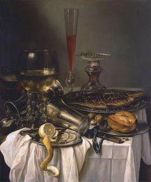 Pieter Claesz | Breakfast with Fish, 1653 | Giclée Canvas Print