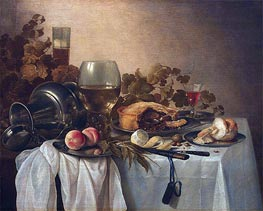 Pieter Claesz | Still Life with Roemer and Pie | Giclée Canvas Print