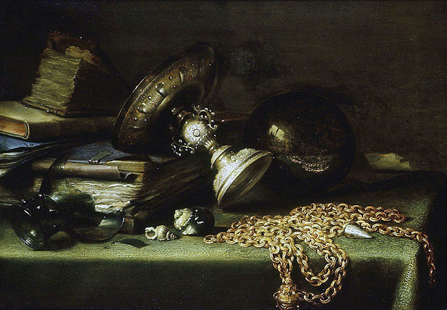 Still Life with a Gold Chain, c.1636 | Pieter Claesz | Painting Reproduction
