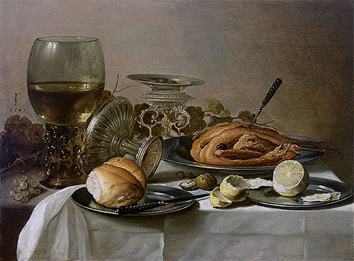 Still Life with Roemer, 1647 | Pieter Claesz | Painting Reproduction