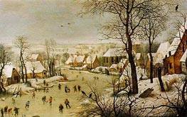 Bruegel the Elder | Winter Landscape with Skaters and Bird Trap, 1565 | Giclée Canvas Print