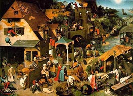 Bruegel the Elder | Netherlandish Proverbs, 1559 by | Giclée Canvas Print