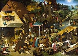 Bruegel the Elder | Netherlandish Proverbs, 1559 | Giclée Canvas Print