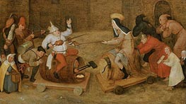 Bruegel the Elder | Combat between Carnival and Lent, undated | Giclée Canvas Print