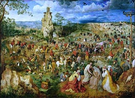 Bruegel the Elder | The Procession to Calvary, 1564 | Giclée Canvas Print