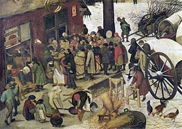 Bruegel the Elder | The Census at Bethlehem (Detail), undated | Giclée Canvas Print
