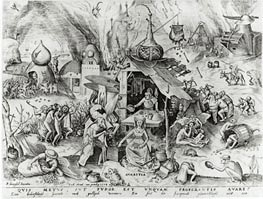 Bruegel the Elder | Avarice, from The Seven Deadly Sins, 1558 | Giclée Paper Print